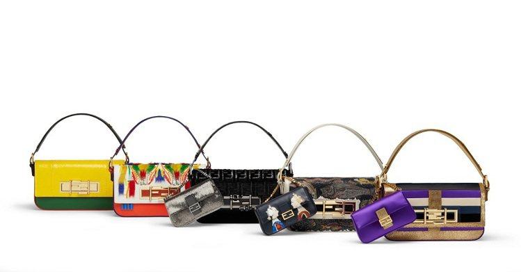 日前Fendi紐約旗艦店開幕,邀請五位名女人設計經典包款。圖/Fendi提供