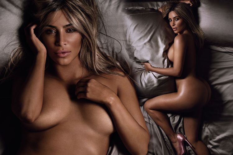 話題女王金卡戴珊先前為英版 GQ 雜誌拍攝一系列床照,相當冶豔惹火。圖/擷自mi...