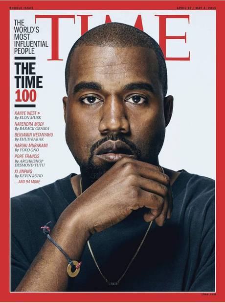 肯伊名列TIME雜誌百大影響力人士,且榮登封面。圖/擷自TIME封面