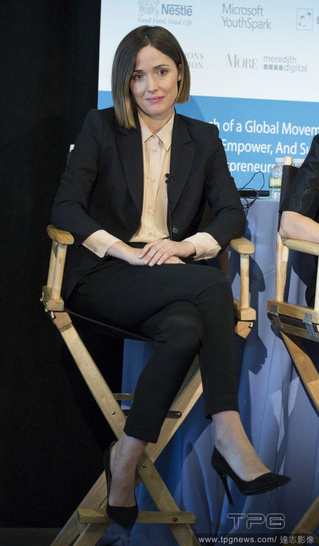 蘿絲拜恩參加2014聯合國婦女創業論壇。圖/達志影像
