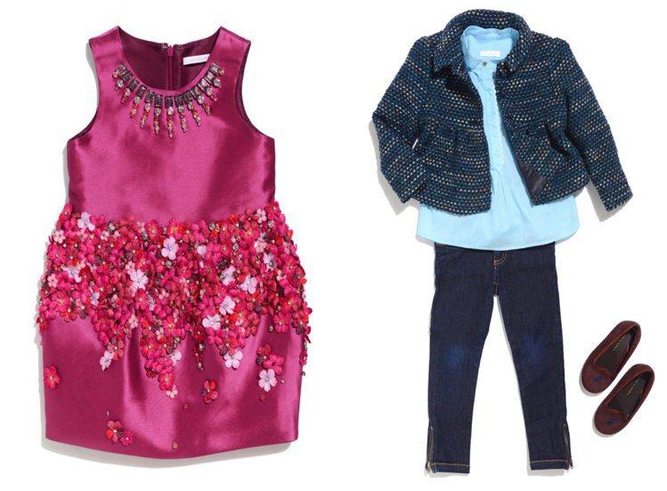 這批捐贈義賣的童裝中,除了可愛的小洋裝外,也有不少帥氣中性的童裝,