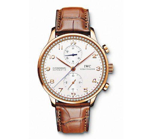 IWC萄牙計時腕表受汪小菲青睞,售價588,000元。圖/SOGO復興店提供