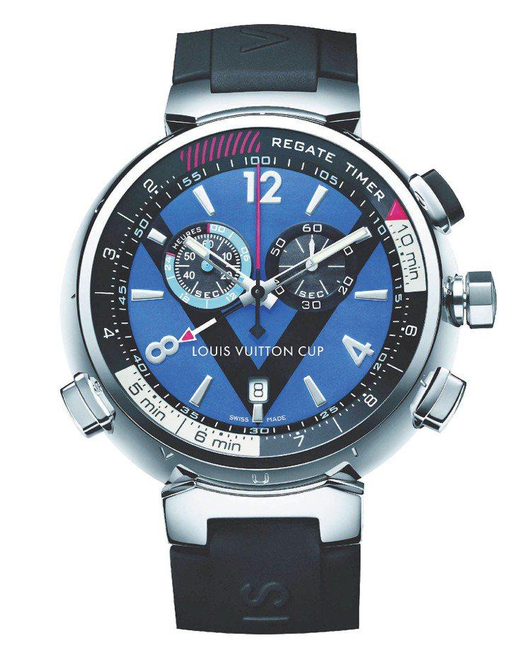 LV Tambour Regatta Navy男款手表、161,000元。圖/L...