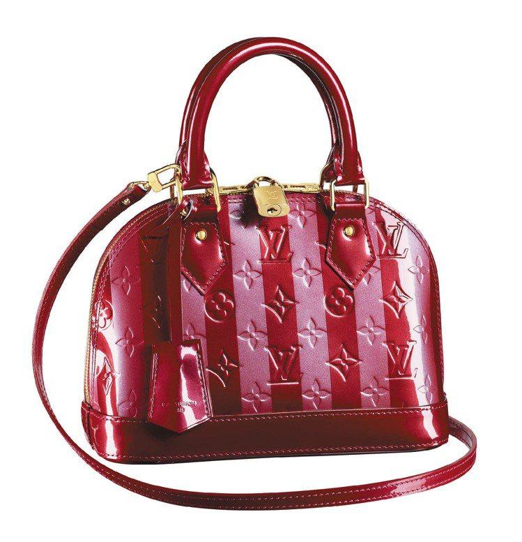 LV新款條紋Alma BB Rayures手提包、50,000元。圖/LV提供
