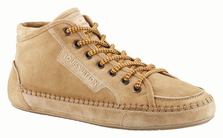 LV駝色皮革休閒鞋,23,500元。圖/LV提供