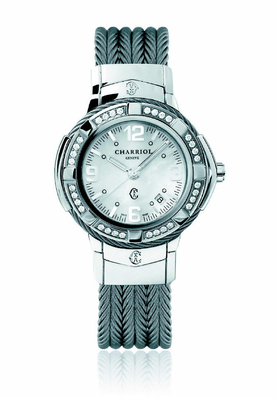 CELTIC腕表系列,表徑38mm、石英機芯,表圈鑲嵌32顆閃耀鑽石。13萬9,...