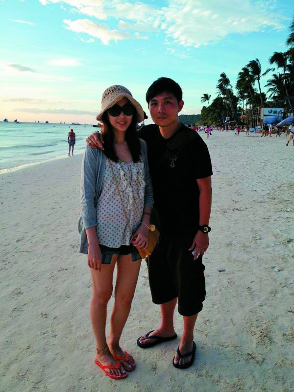 劉喆瑩笑稱老公是她心中的「梁朝偉」。圖/TVBS周刊提供