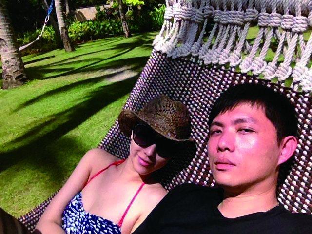 劉喆瑩與老公在春節時赴長灘島度假。圖/TVBS周刊提供