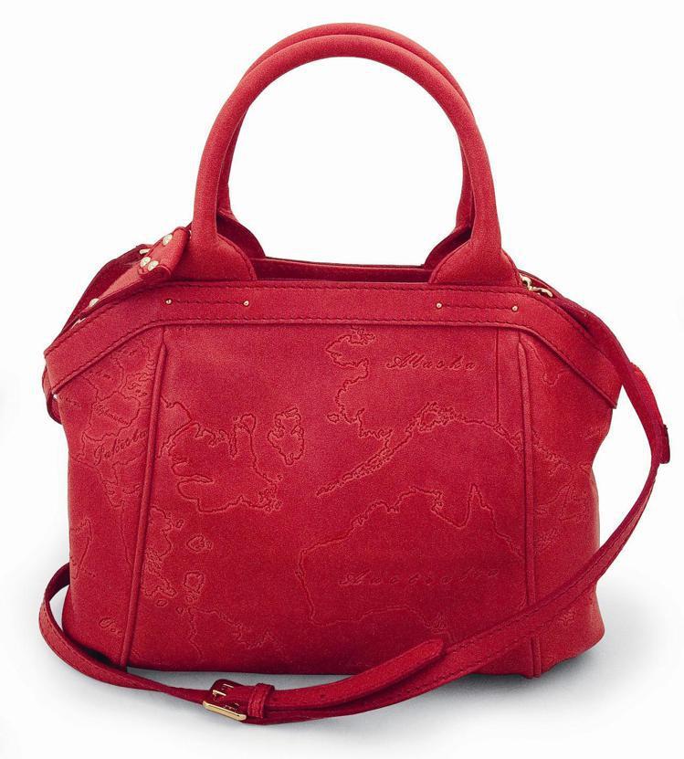 地圖包皮革烙印地圖的肩背手提包,16,600元。圖/迪生提供