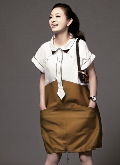 運動風洋裝非常可愛。圖/TVBS周刊提供
