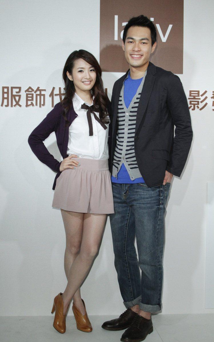 林依晨(左)與楊祐寧(右)一同出席網路成衣Lativ代言活動。記者陳瑞源/攝影
