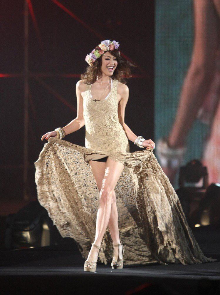 日本超人氣模特兒山田優來台為最強美少女盛典走秀。記者陳立凱/攝影