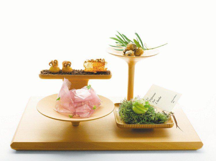 江振誠的創意料理,就像是一幅美麗的風景畫。圖/晶華提供