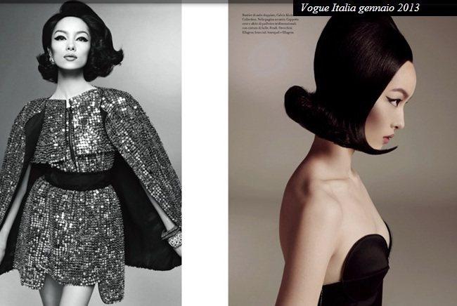 在時尚攝影大師Steven Meisel的鏡頭下,孫菲菲展現多變的美麗。圖/擷取...