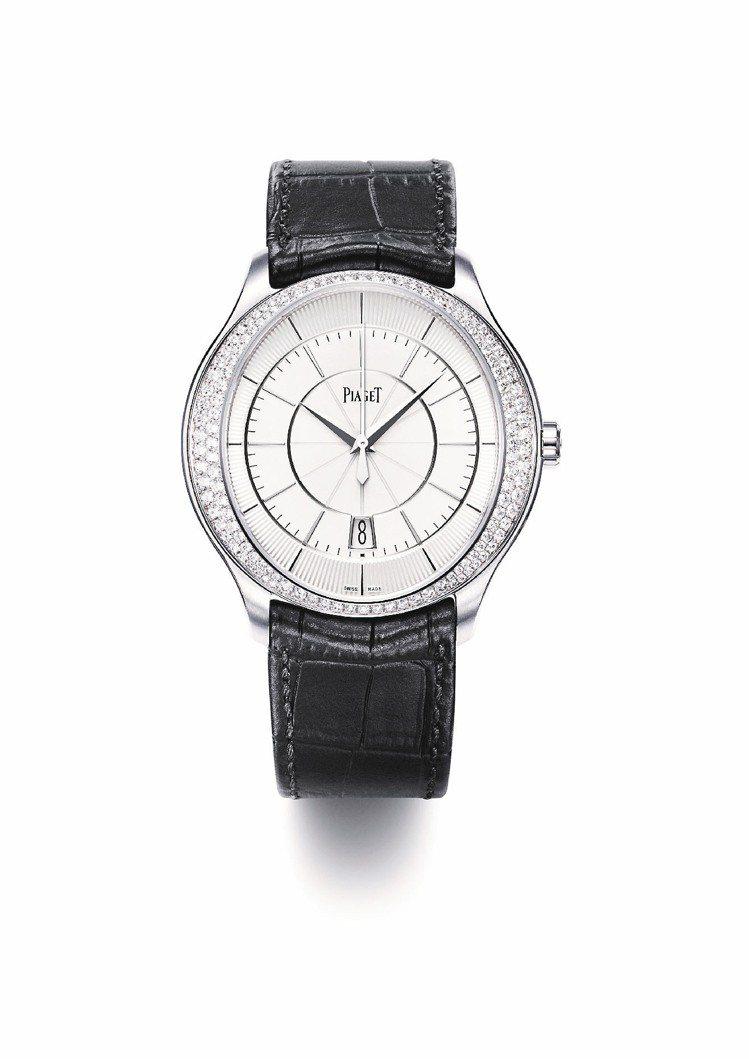 伯爵Piaget Gouverneur自動腕表、白金表殼,鑲嵌128顆美鑽、1,...