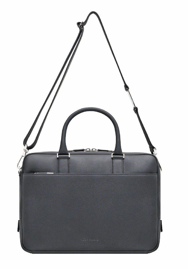 Dior Homme黑色真皮公事包,75,000元。圖/Dior Homme提供