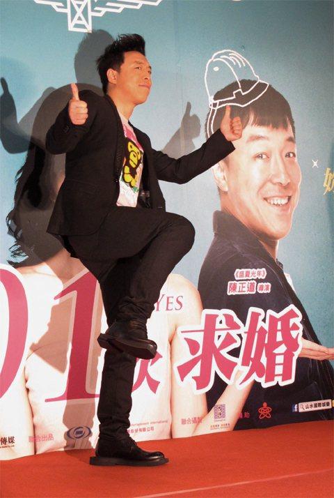 黃渤在宣傳活動上妙語如珠吵熱氣氛。記者吳曉涵/攝影