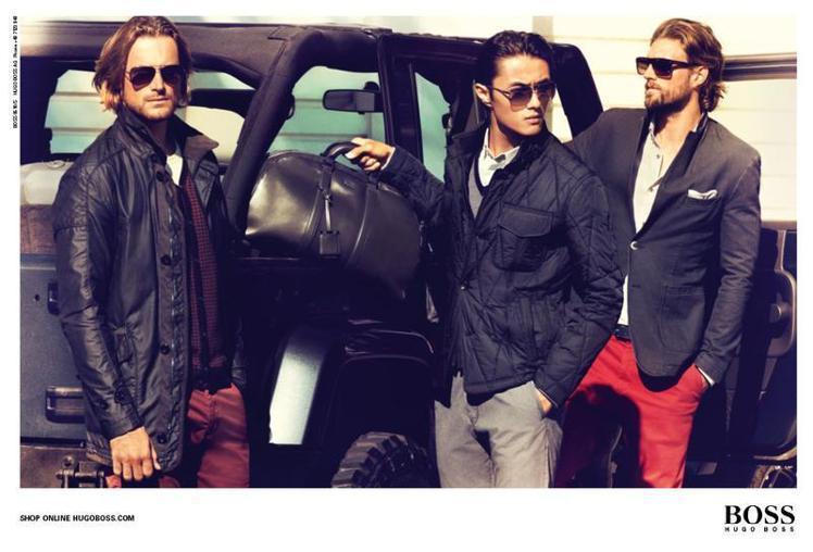 趙磊(右二)排名全球第15名,本季入鏡Hugo Boss廣告。圖/Hugo Bo...