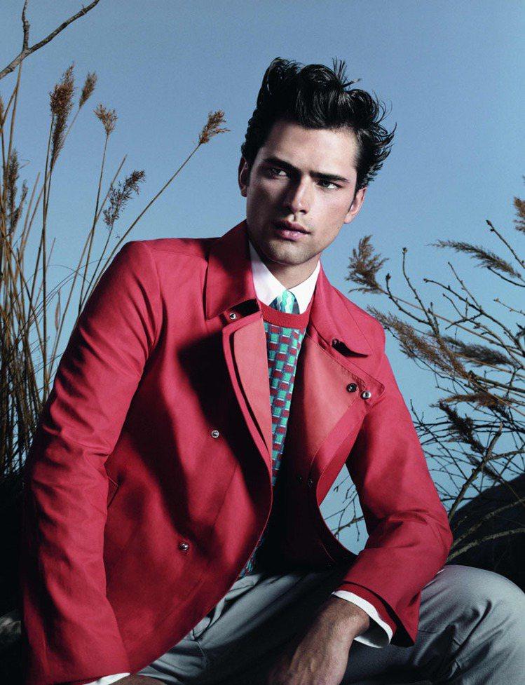 全球第一男模Sean O'Pry,代言Ferragamo春夏男裝。圖/Ferra...