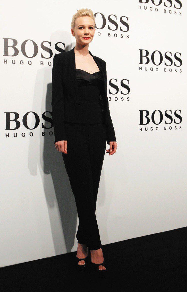 電影大亨小傳女星Carey Mulligan。圖/HUGO BOSS提供