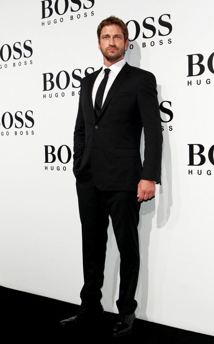 好萊塢影星Gerard Butler出席HUGO BOSS發表,男人味十足。圖/...