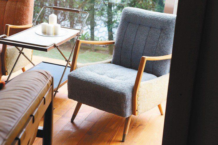 早期收藏的家具,帶點北歐的氛圍。記者陳立凱/攝影