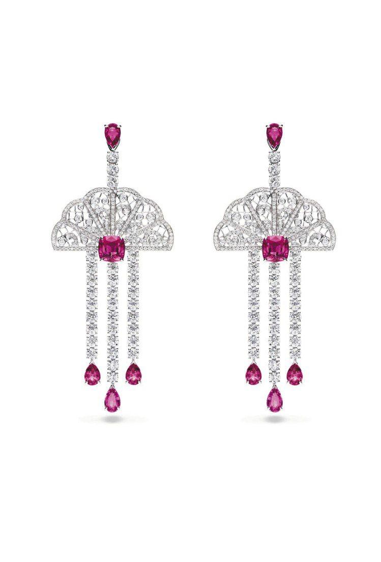 Couture Precieuse璀璨華裳系列18K白金耳環,609萬8,000...