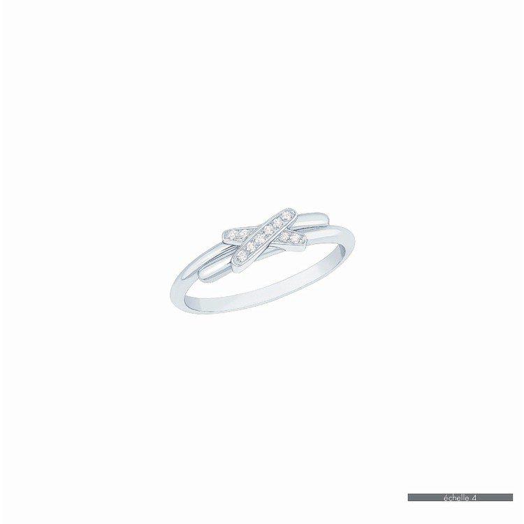 Premiers Liens戀白金鑲鑽戒指,18K金鑲嵌10顆鑽石,43,000...