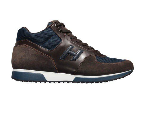 HOGAN麂皮拼接繫帶休閒鞋,價格未定。圖/迪生提供
