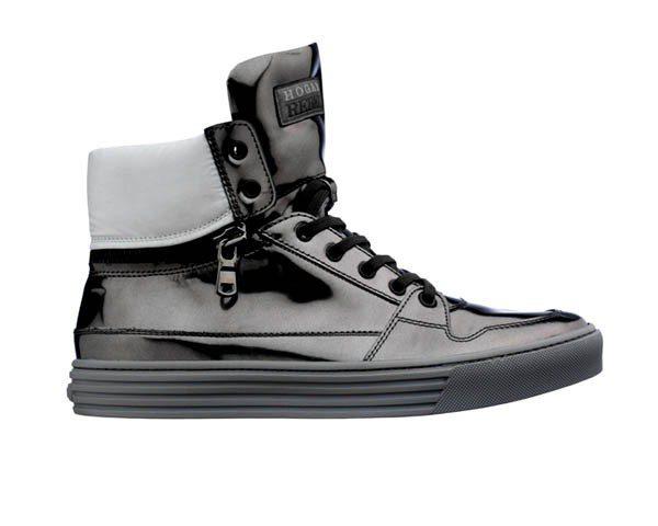HOGAN經典REBEL雙色高筒休閒鞋,價格未定。圖/迪生提供