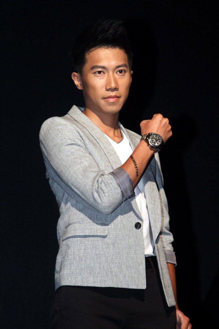 Citizen星辰錶新品發表上市,超馬選手陳彥博出席展演。記者陳瑞源/攝影