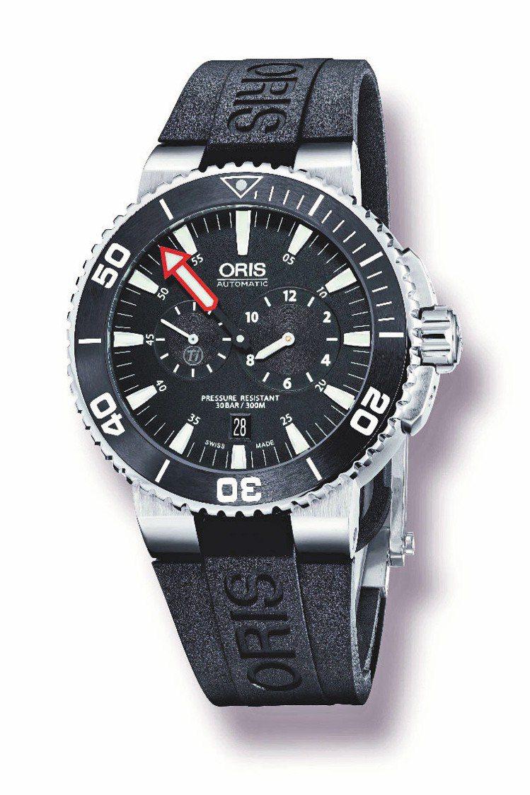ORIS Aquis潛水校正表,43mm精鋼表殼,自動機芯,88,000元。圖/...