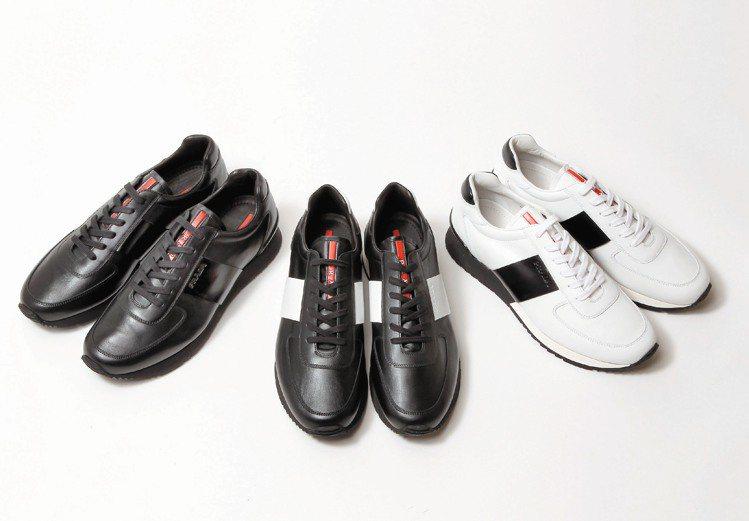 PRADA雙色牛皮運動鞋24,500元。圖/PRADA提供