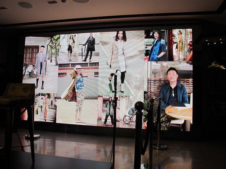 BURBERRY風衣展以圖像電子螢幕呈現。圖/BURBERRY提供