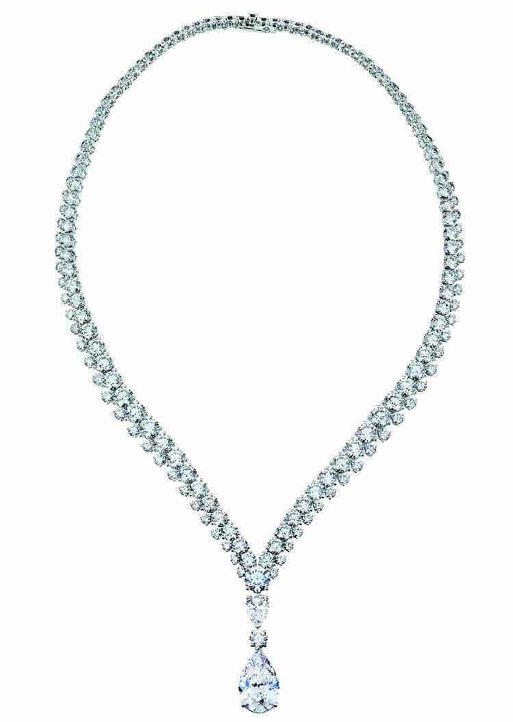 Phenomena Reef項鍊,18K白金鑲嵌197顆總重57.34克拉鑽石,...