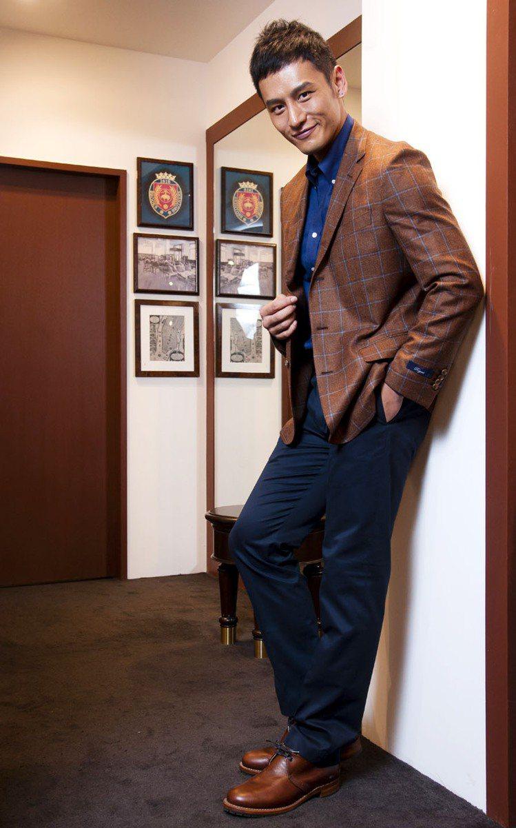 顧又銘特別喜歡Brooks Brothers。記者王騰毅/攝影