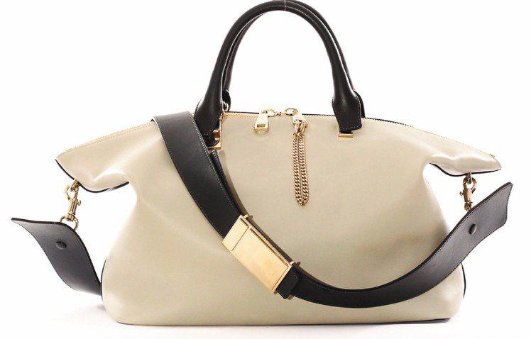 Chloe Baylee棉花糖灰黑色小牛皮側背提包,售價 67,200元。圖/C...