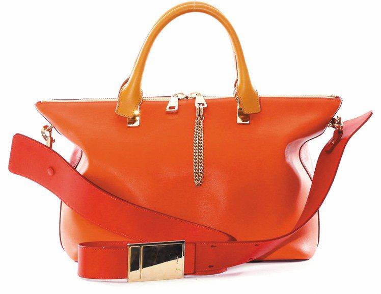 Chloe Baylee櫻桃色小牛皮側背提包,售價 67,200元。圖/Chlo...
