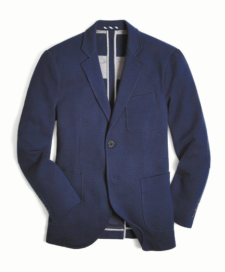 Brooks Brothers海軍藍獵裝外套,19,800元。圖╱迪生提供