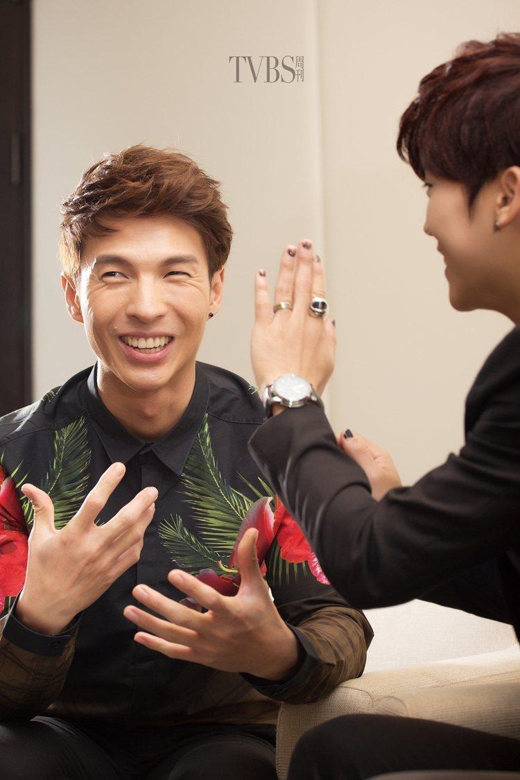 Bii和陳勢安私底下就像兄弟一樣。圖/TVBS周刊