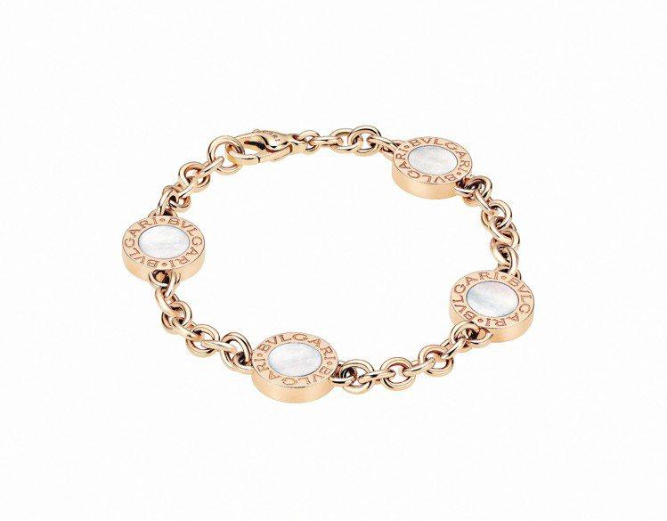 Bulgari‧Bulgari 玫瑰金手鍊,鑲嵌珍珠母貝與黑瑪瑙,23萬8,40...