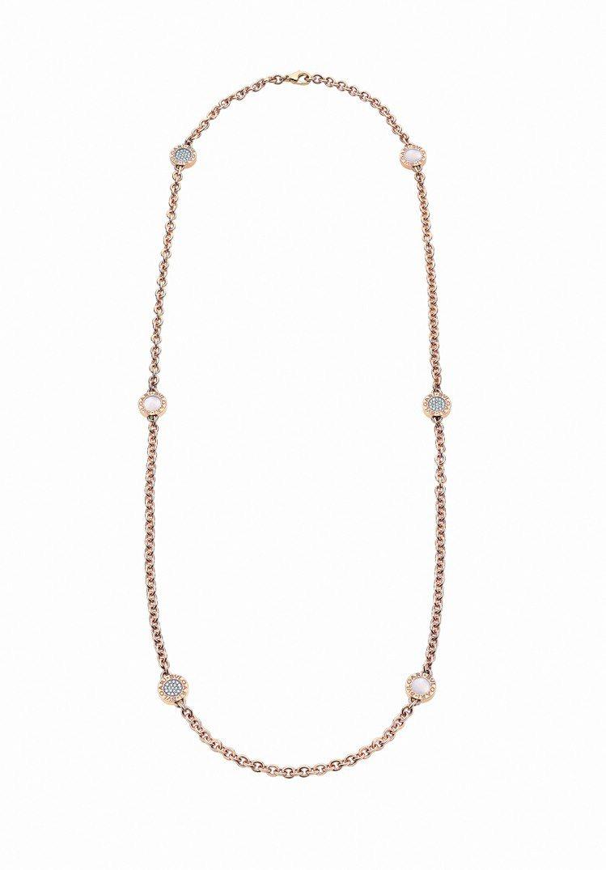 Bulgari‧Bulgari 玫瑰金珍珠母貝長鍊,鑲嵌珍珠母貝與約1.16克拉...