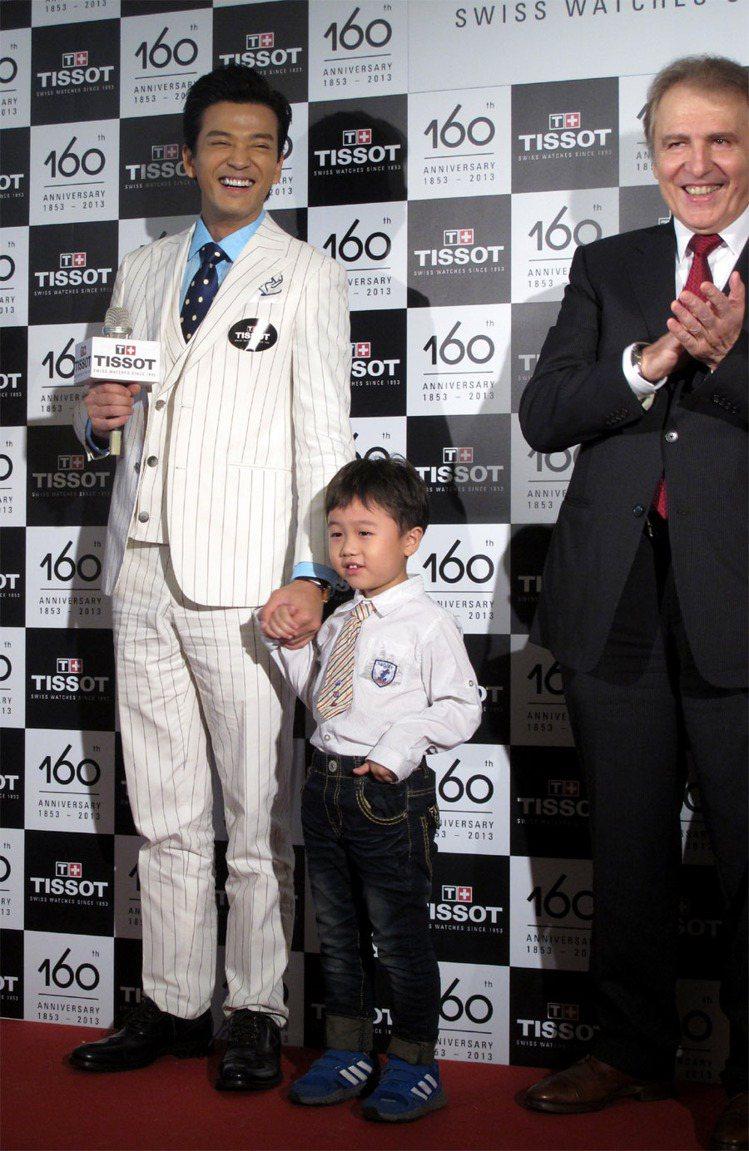 5歲小弟弟在台上與陳曉東玩得很開心,氣氛high到不行。記者吳曉涵/攝影