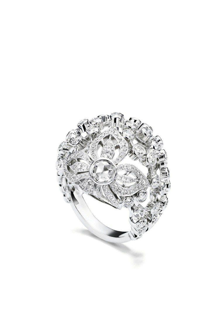 Couture Precieuse戒指,18K白金鑲嵌176顆美鑽,240萬2,...