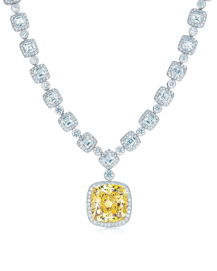 Rhapsody黃鑽項鍊,1億395萬元。圖/Tiffany提供