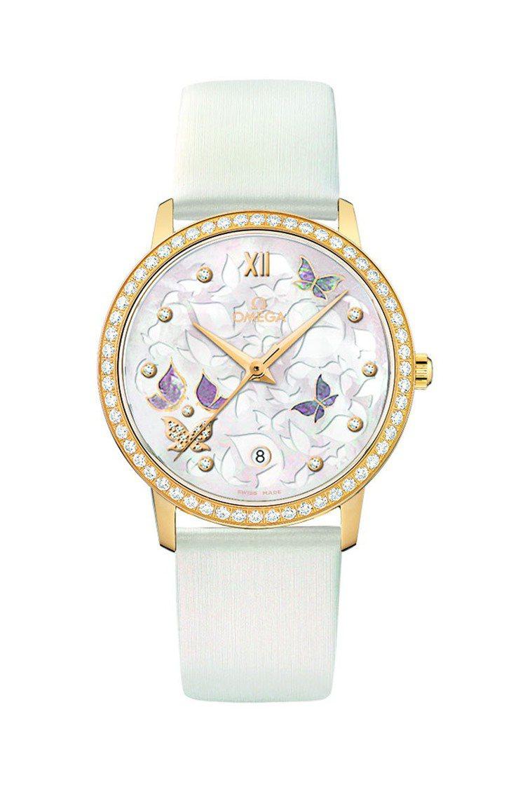 OMEGA碟飛Prestige Butterfly 腕錶-36.8毫米18K黃金...