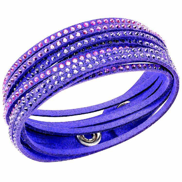 Slake Purple手鍊,充滿魅力的紫色水晶,採可調校尺寸的鈕扣設計,2,9...