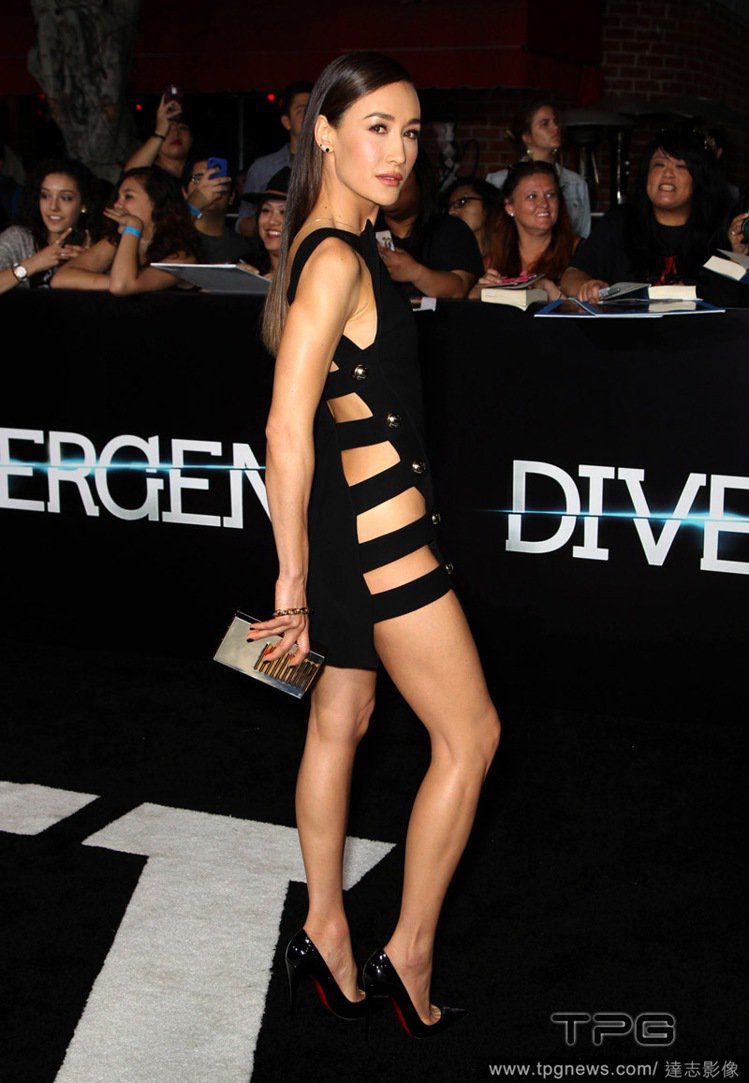 女星 Maggie Q 近日在新片《分歧者 Divergent》洛杉磯的首映會中...