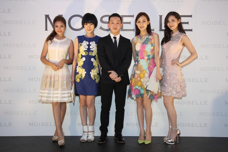 MOISELLE 2014 春夏系列請來藝人雷瑟琳、陽靚、范范與千金名模王予柔為...