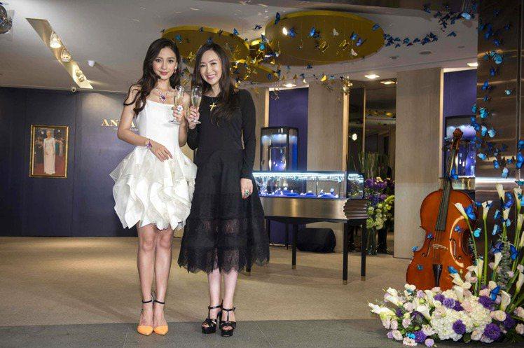 Angelababy與Anna Hu歡慶ANNA HU夢幻音樂花園特別展覽開幕。...